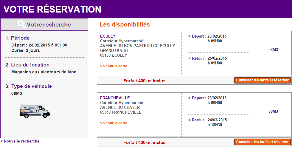 Carrefour Location recherche
